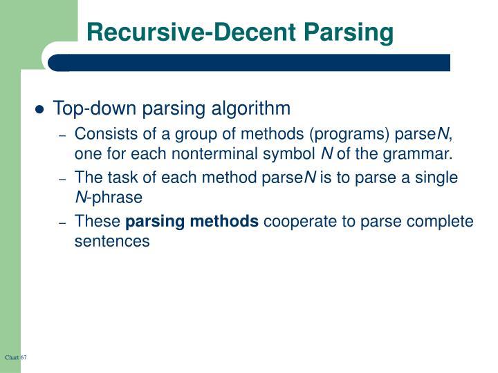 Recursive-Decent Parsing