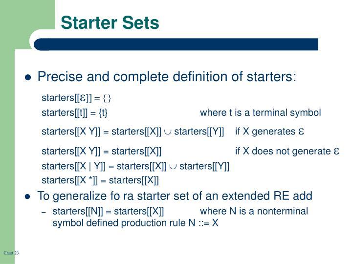 Starter Sets