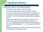 top down parsers
