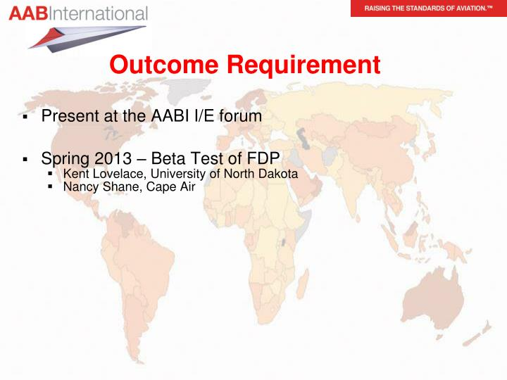 Outcome Requirement