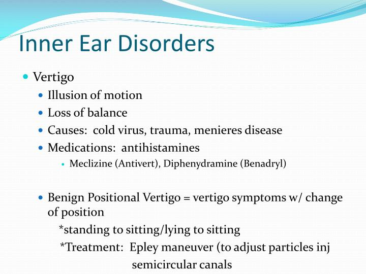 Inner Ear Disorders