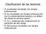 clasificaci n de las lesiones