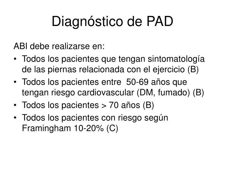 Diagnóstico de PAD
