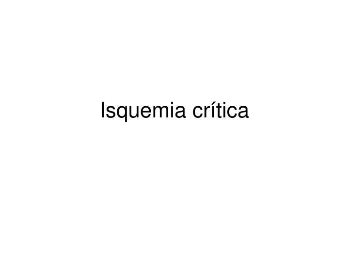 Isquemia crítica