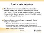 growth of social applications