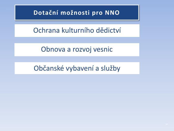 Dotační možnosti pro NNO