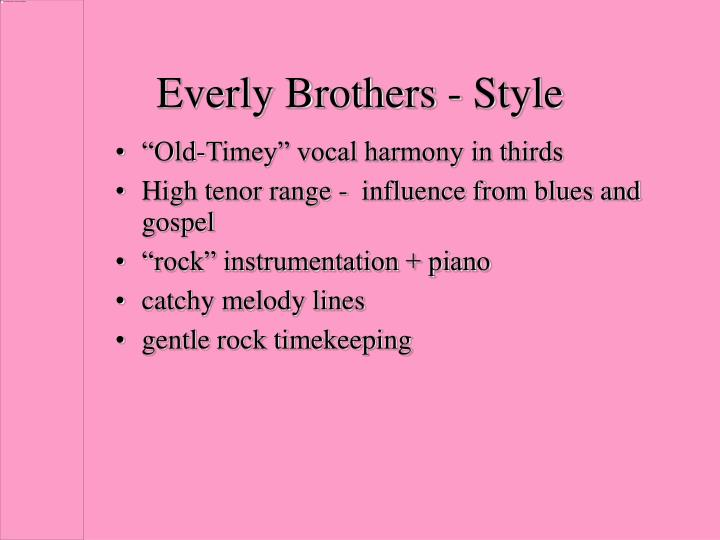 Everly Brothers - Style