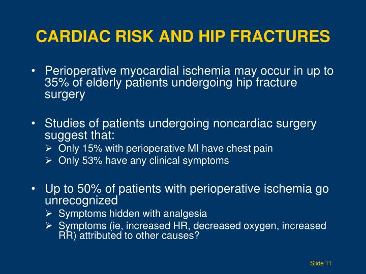Cardiac Risk and Hip Fractures