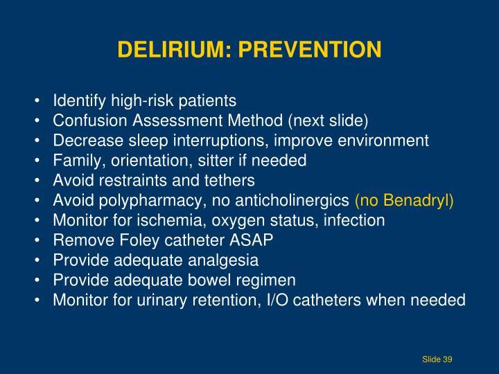 Delirium: