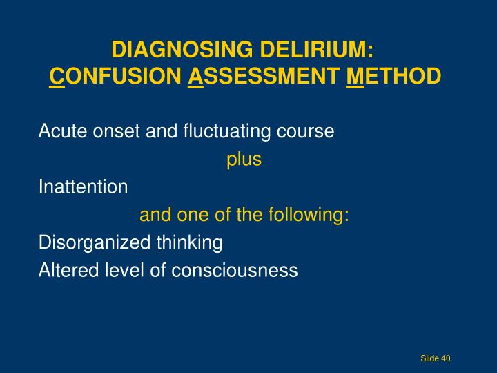 Diagnosing