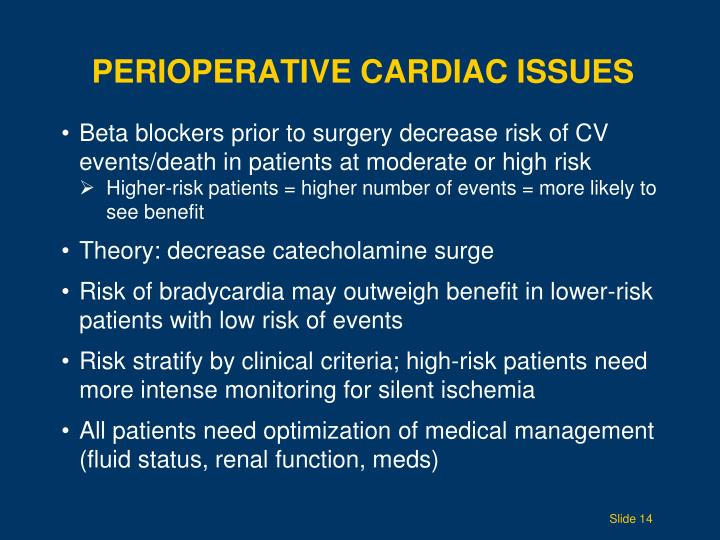 Perioperative Cardiac Issues