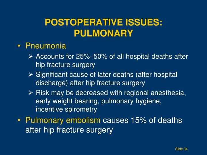 Postoperative Issues: Pulmonary