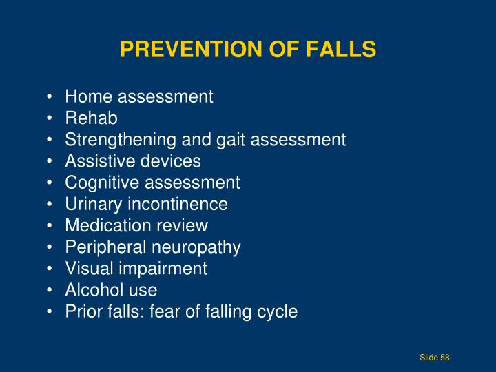 Prevention of Falls