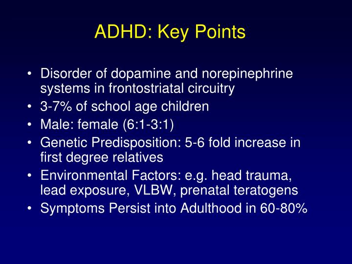 ADHD: Key Points