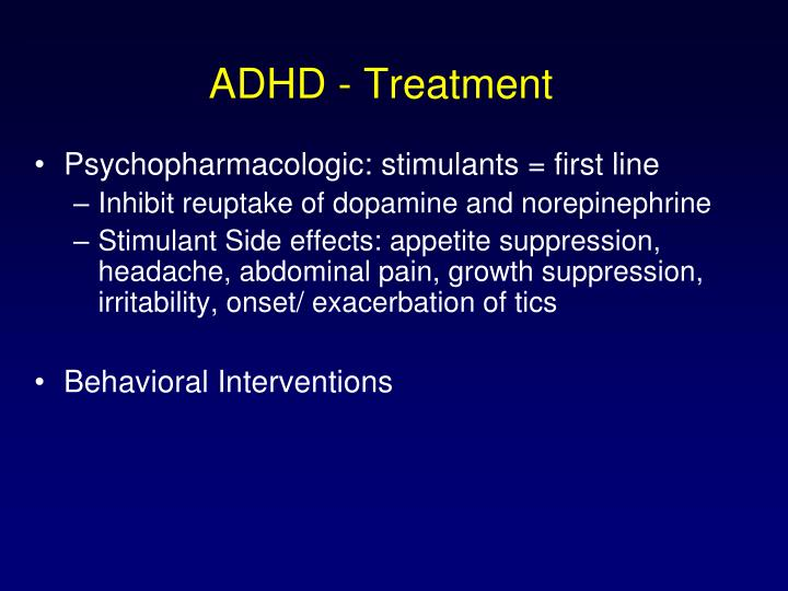 ADHD - Treatment