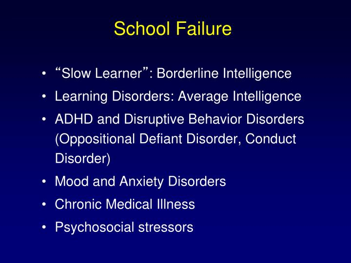 School Failure