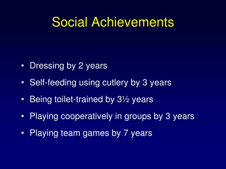 Social Achievements