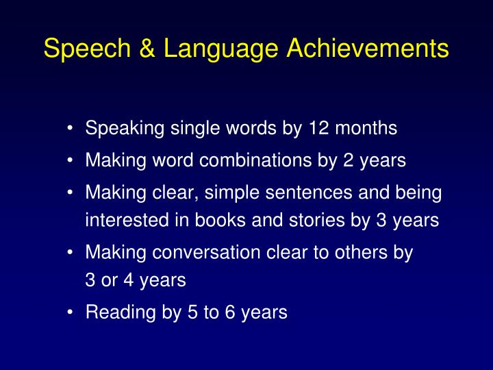 Speech & Language Achievements