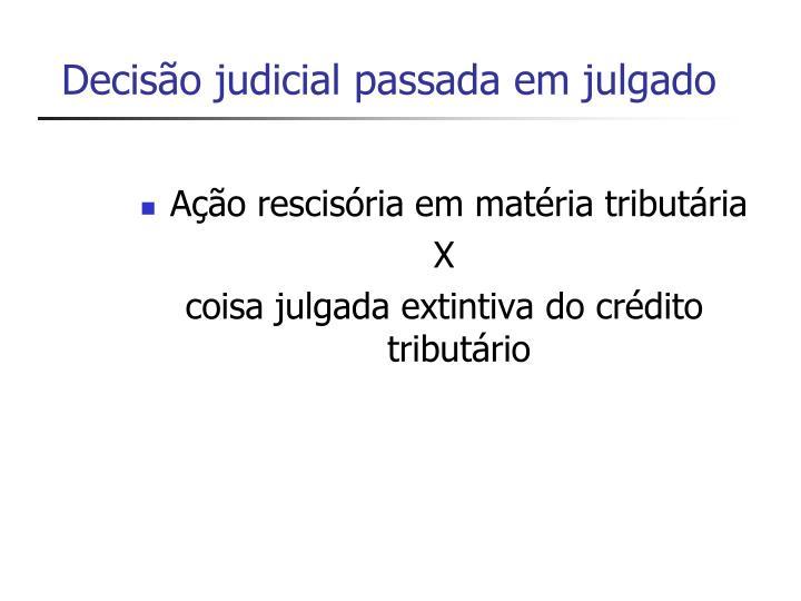 Decisão judicial passada em julgado