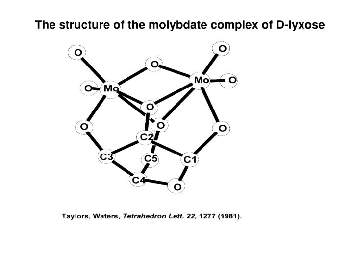 The structure of the molybdate complex of D-lyxose