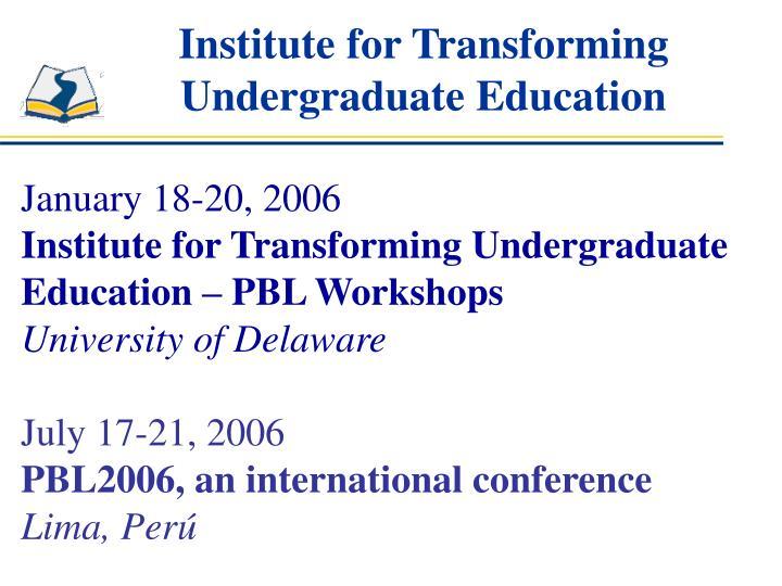 Institute for Transforming