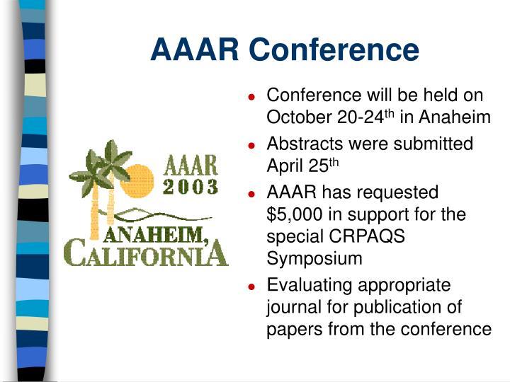 AAAR Conference