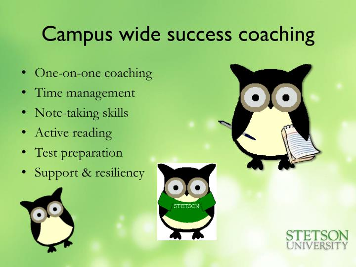 Campus wide success coaching