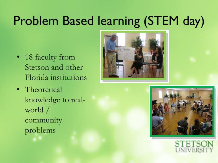 Problem Based learning (STEM day)