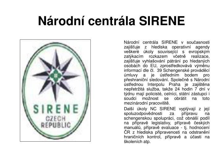 Národní centrála SIRENE