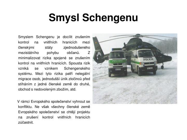 Smysl Schengenu
