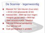 de scanner tegenwoordig