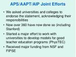 aps aapt aip joint efforts