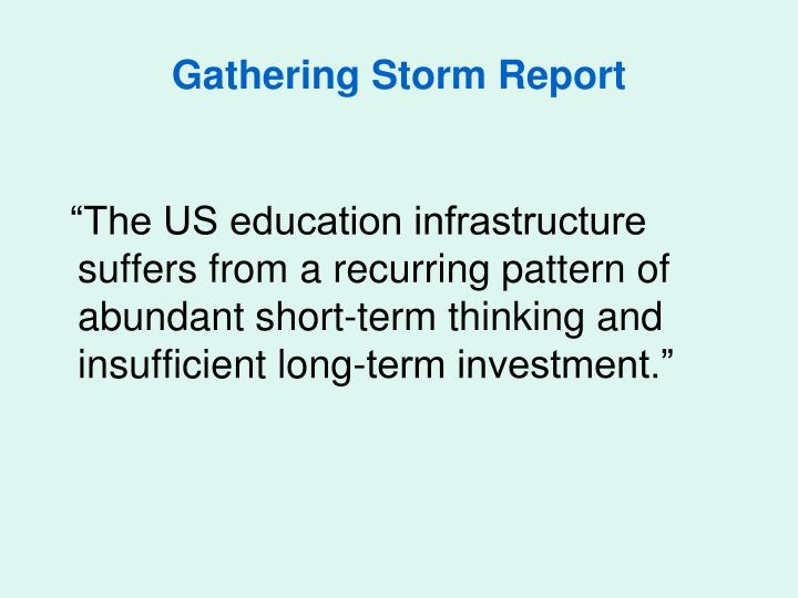 Gathering Storm Report