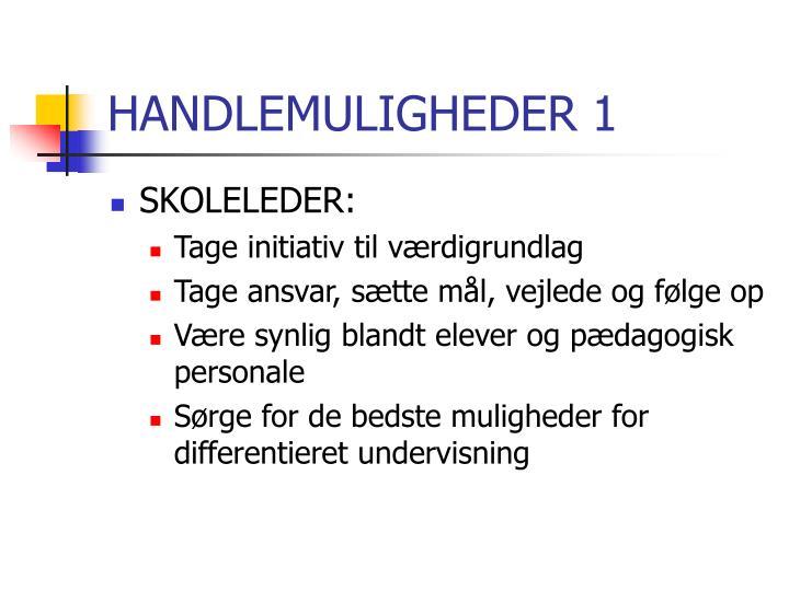 HANDLEMULIGHEDER 1