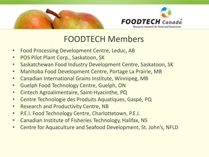FOODTECH Members