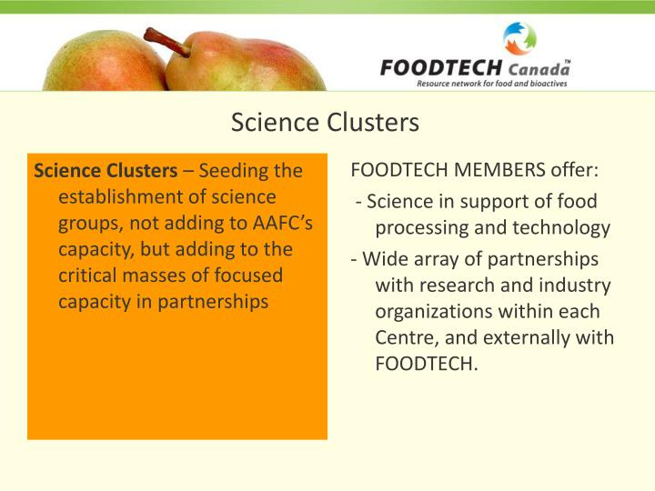 Science Clusters