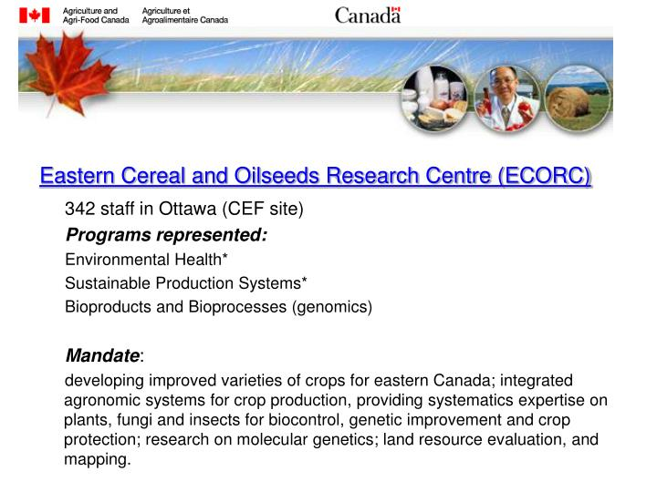 Eastern Cereal and Oilseeds Research Centre (ECORC)