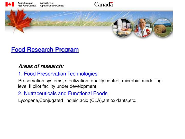 Food Research Program