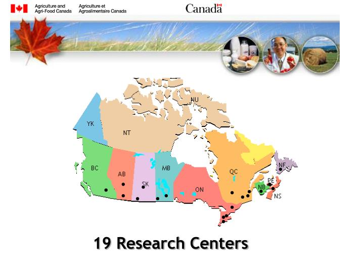 19 Research Centers