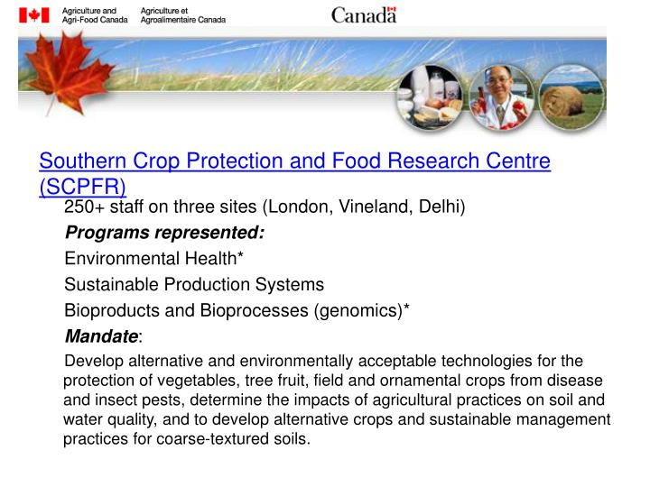 Southern Crop Protection and Food Research Centre (SCPFR)