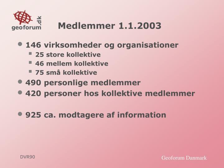 Medlemmer 1.1.2003