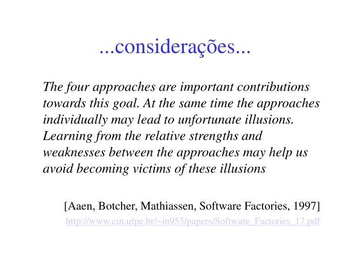 ...considerações...