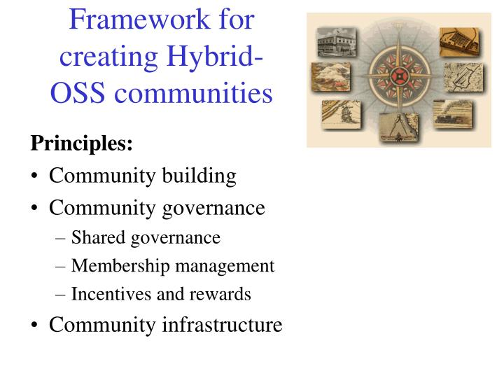 Framework for creating Hybrid-OSS communities