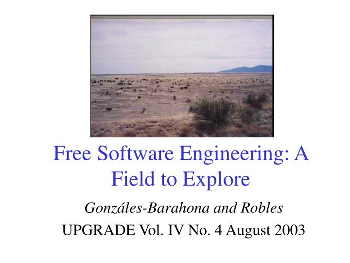 Free software engineering a field to explore