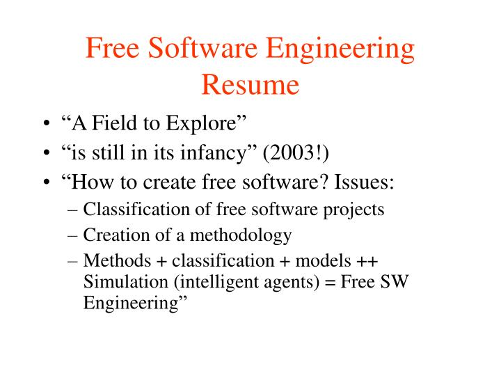 Free Software Engineering