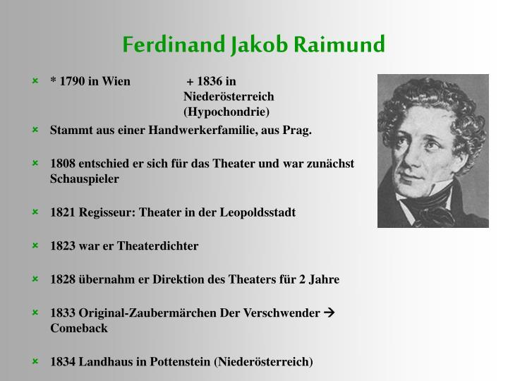 Ferdinand Jakob Raimund