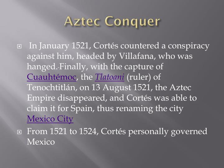 Aztec Conquer