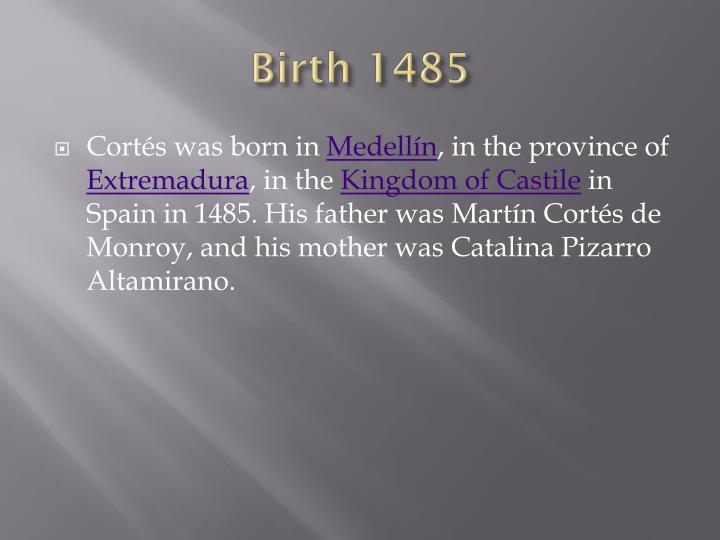 Birth 1485