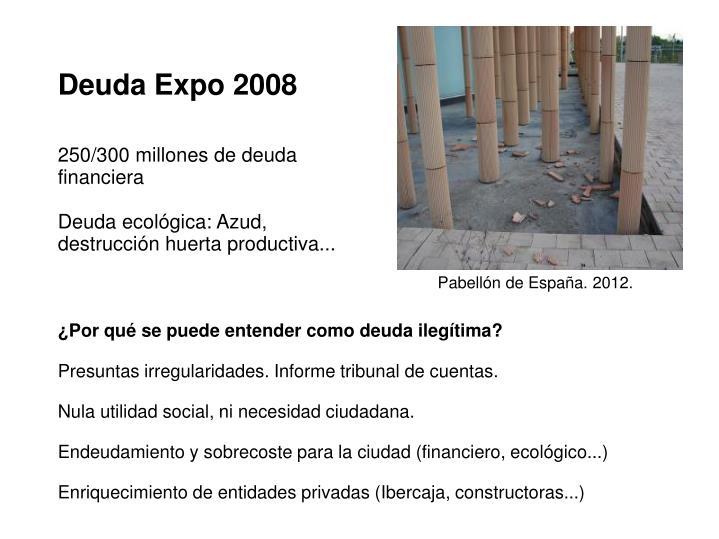 Deuda Expo 2008