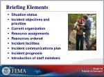briefing elements